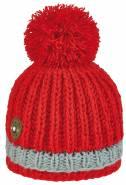 Chlapecká zimní čepice CONTRAST PON BOY - RED