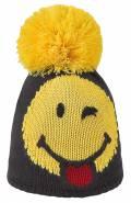 Dívčí zimní čepice SMILE PON JR - YEL