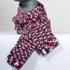 Dívčí zimní šála Multicolor Scarf - RED